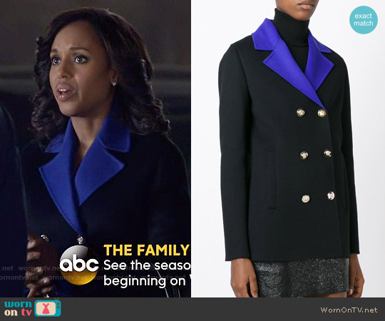 Versace Contrasting Lapels Blazer worn by Kerry Washington on Scandal