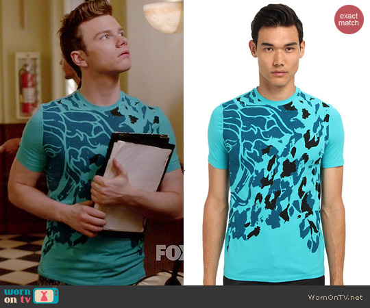 Versace Medusa Animal Tee worn by Chris Colfer on Glee
