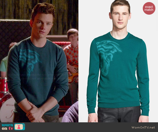 Versace Medusa Logo Sweater worn by Chris Colfer on Glee