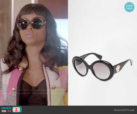 Versace Round Sunglasses worn by Cookie Lyon on Empire