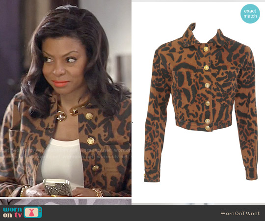 Versace Vintage Animal Print Jacket worn by Taraji P. Henson on Empire