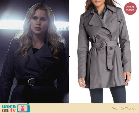 Via Spiga Double Breasted Rain Trench Coat worn by Claire Holt on The Originals