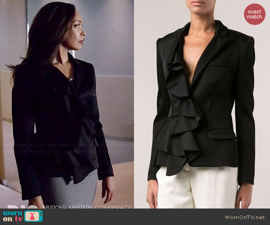 Viktor & Rolf Ruffled Front Blazer worn by Gina Torres on Suits