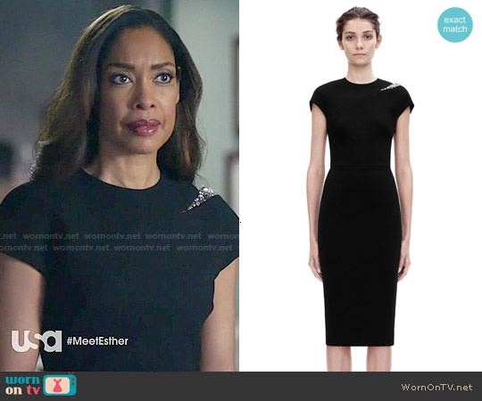 Victoria Beckham Cap Sleeve Embroidery Fitted worn by Gina Torres on Suits