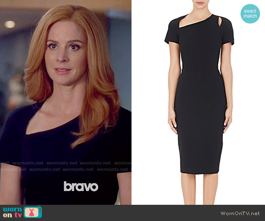 Victoria Beckham Matte Crepe Fitted Sheath Dress worn by Sarah Rafferty on Suits