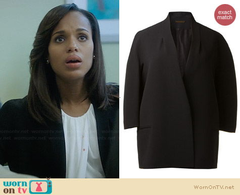 Victoria Beckham Boxy Structured Blazer worn by Kerry Washington on Scandal