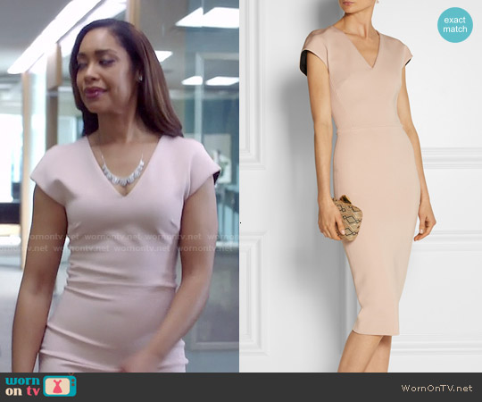 Victoria Beckham Ponte Dress worn by Gina Torres on Suits