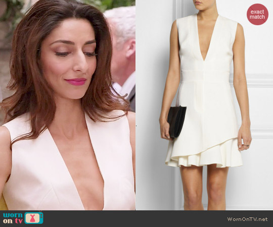 Victoria Beckham Silk Wool Blend Mini Dress worn by Necar Zadegan on GG2D