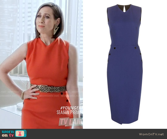 Victoria Beckham Sleeveless Wool Dress worn by Miriam Shor on Younger