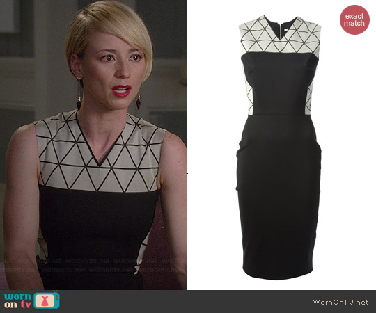 Victoria Beckham Triangle Panel Dress worn by Karine Vanasse on Revenge