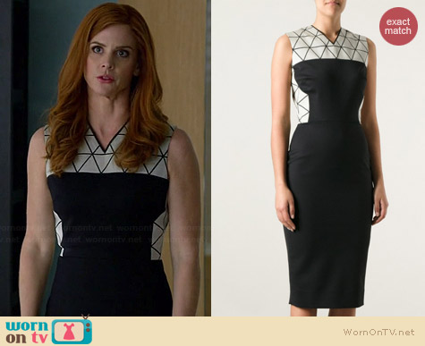 Victoria Beckham Triangle Panel Dress worn by Sarah Rafferty on Suits