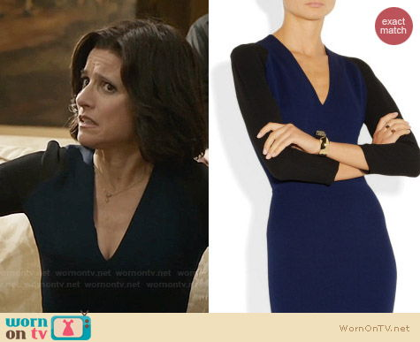 Victoria Beckham Two Tone Dress worn by Julia Louis Dreyfus on Veep