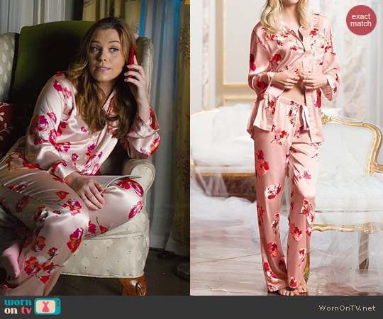 2e884d98c8 WornOnTV  AnnaBeth s pink floral satin pajamas on Hart of Dixie ...