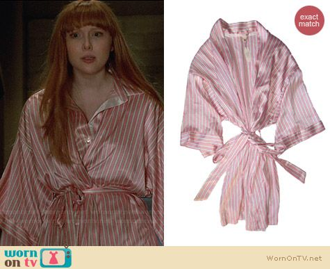 Victoria's Secret Very Sexy Striped Kimono worn by Molly Quinn on Castle