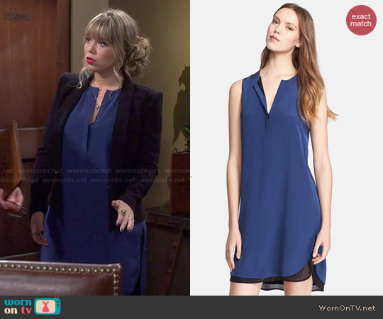 Vince Double Layer Shift Dress worn by Amanda Fuller on Last Man Standing