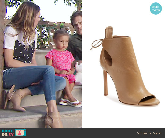 Vince 'Gabbrielle' Open Toe Bootie worn by Elizabeth Hendrickson on The Young & the Restless