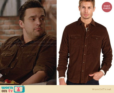 Vince Button Up Shirt worn by Jake Johnson on New Girl