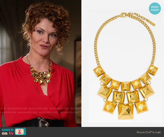 Vince Camuto Clearview Pyramid Stud Necklace worn by Evelyn Powell on Devious Maids