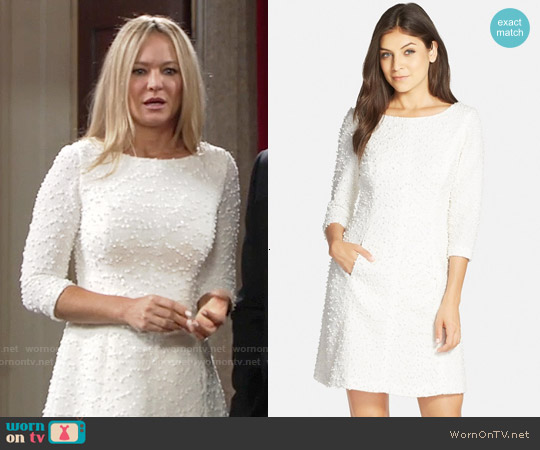 Vince Camuto Boucle Knit A-Line Dress worn by Sharon Case on The Young & the Restless