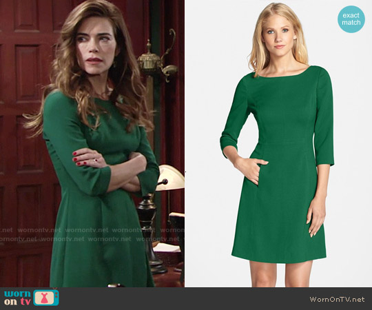 Vince Camuto Crepe A-Line Dress worn by Amelia Heinle on The Young & the Restless