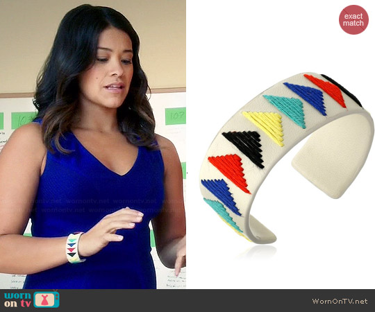 Vince Camuto Embroidered Leather Cuff worn by Jane on Jane the Virgin