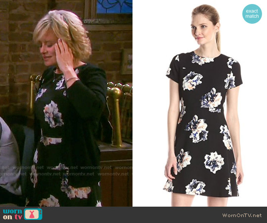 Vince Camuto Small Duet Floral Dress worn by Mary Beth Evans on Days of our Lives