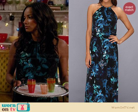 Vince Camuto Sophia Halter Maxi Dress worn by Rochelle Aytes on Mistresses