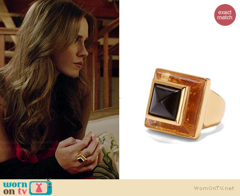 Vince Camuto Square Pyramid Stone Ring worn by Christa Allen on Revenge