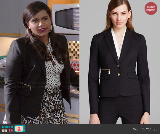 Vince Camuto Two Button Blazer worn by Mindy Kaling on The Mindy Project
