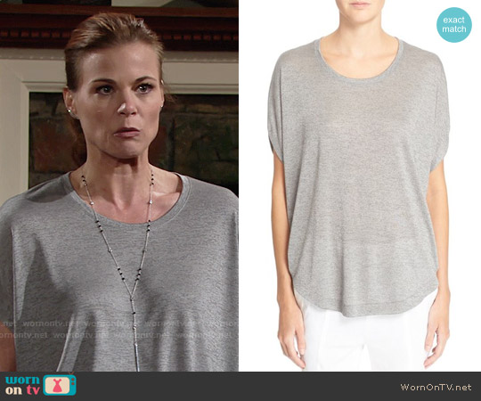 Vince Circle Tee worn by Gina Tognoni on The Young & the Restless