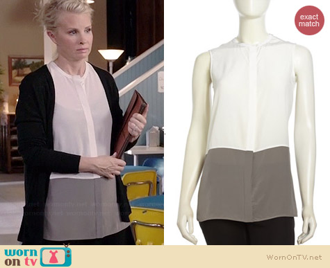 Vince Colorblock Sleeveless Tank Top worn by Monica Potter on Parenthood
