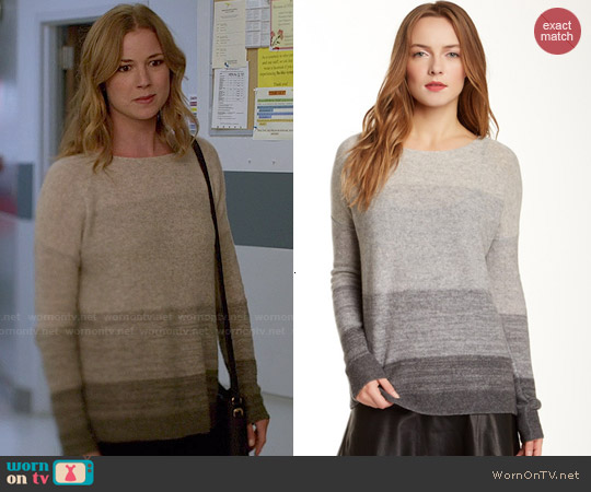 Vince Degrade Cashmere Sweater worn by Emily VanCamp on Revenge