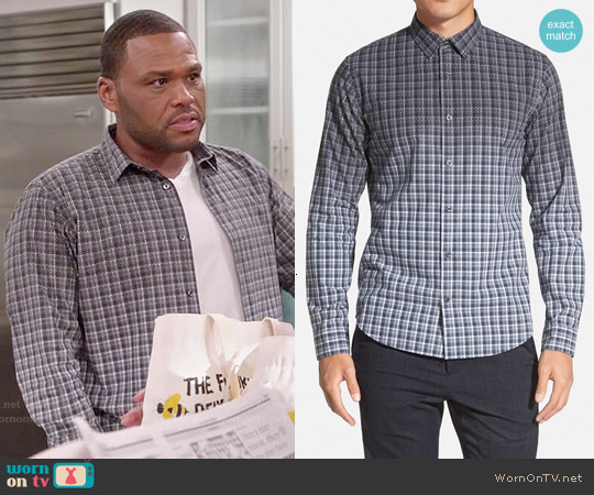Vince 'Degrade Geo' Shirt worn by Anthony Anderson on Blackish