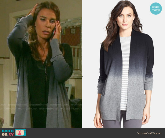 Vince Dip Dye Cardigan worn by Kristian Alfonso on Days of our Lives