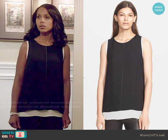 Vince Double Layer Tank worn by Kerry Washington on Scandal