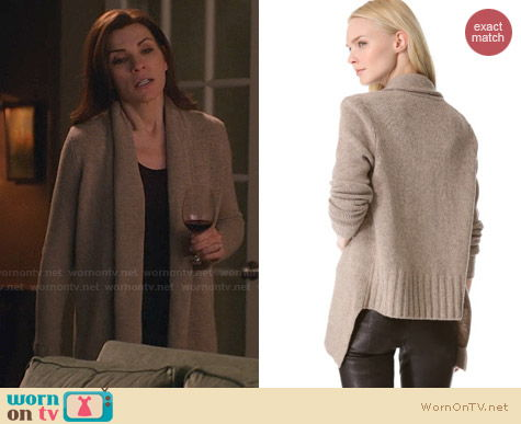 Vince Draped Cardigan worn by Julianna Margulies on The Good Wife