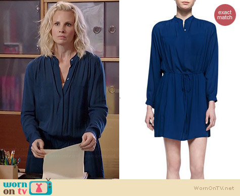 Vince Drawstring Waist Easy Shirtdress worn by Monica Potter on Parenthood
