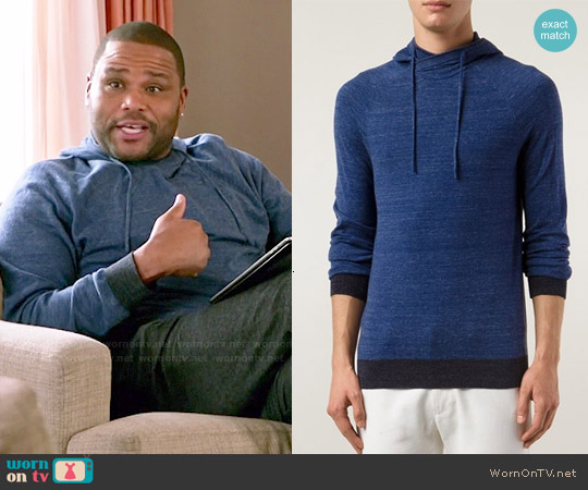Vince Fitted Hoodie worn by Anthony Anderson on Blackish