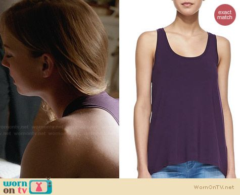 Vince Grape Loose Jersey Tank worn by Emily Vancamp on Revenge