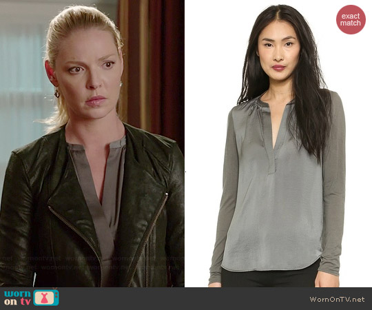 Vince Jersey Back Popover Blouse worn by Katherine Heigl on State of Affairs