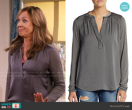 Vince Jersey Back Top worn by Allison Janney on Mom