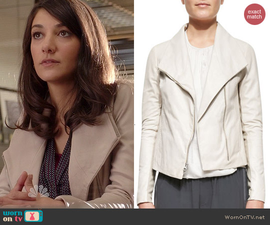 Vince Off White Scuba Jacket worn by Sheila Vand on State of Affairs