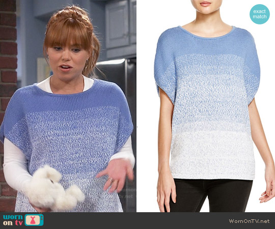 Vince Ombre Cocoon Sweater worn by Amanda Fuller on Last Man Standing