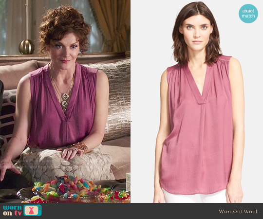 Vince Shirred Shoulder Top worn by Rebecca Wisocky on Devious Maids