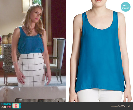 Vince Silk Tank in Peacock worn by Taylor Stappord on Devious Maids
