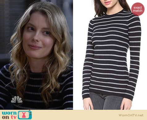 Vince Striped Crew Neck Sweater worn by Gillian Jacobs on Community