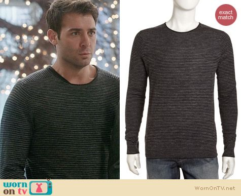 Vince Striped Wool and Linen Sweater worn by James Wolk on The Crazy Ones
