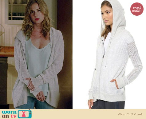 Vince Thermal Cashmere Hoodie worn by Emily VanCamp on Revenge