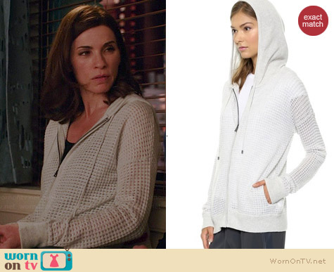 Vince Thermal Cashmere Hoodie worn by Julianna Margulies on The Good Wife