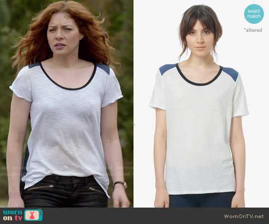 Vince Tri Colorblock Tee worn by Rachelle Lefevre on Under the Dome